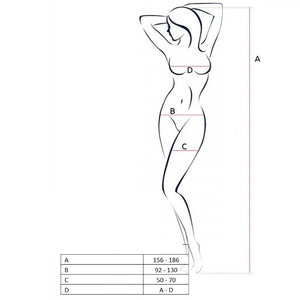 PASSION WOMAN BS062 BODYSTOCKING BLANCO TALLA UNICA