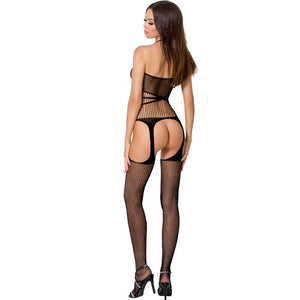 PASSION WOMAN BS049 BODYSTOCKING NEGRO TALLA UNICA