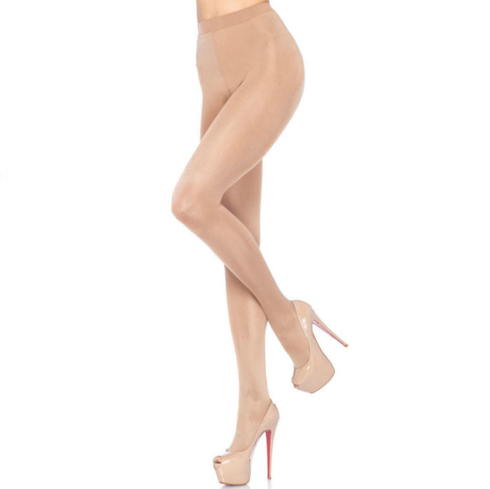 LEG AVENUE SHEER PANTYHOUSE LYCRA NUDE