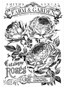 Catalogue of Roses Transfer Transfers - Iron Orchid Designs Transfers available at Lemon Tree Corners