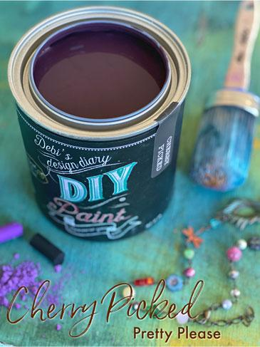 Cherry Picked DIY Paint DIY PAINT - DIY Artisan Clay Paint and Chalk Finish Furniture Paint available at Lemon Tree Corners
