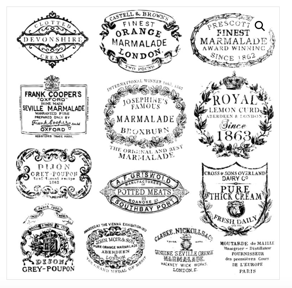 Crockery Stamp Stamps - Iron Orchid Designs Stamps available at Lemon Tree Corners
