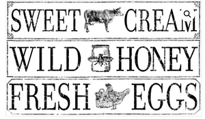 Farm Fresh Signage Transfer Transfers - Iron Orchid Designs Transfers available at Lemon Tree Corners