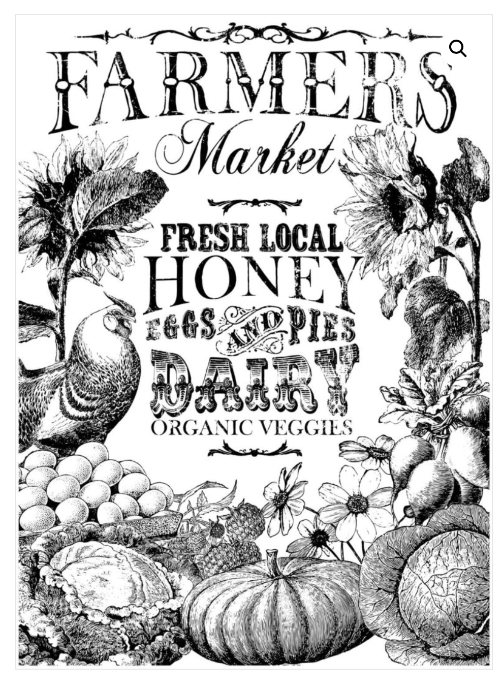 Farmer's Market Transfer Transfers - Iron Orchid Designs Transfers available at Lemon Tree Corners