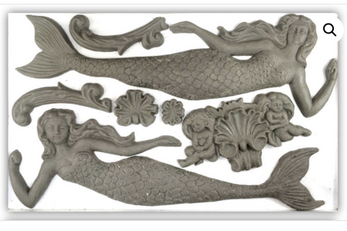 Sea Sisters Mould Moulds - Iron Orchid Designs Moulds available at Lemon Tree Corners