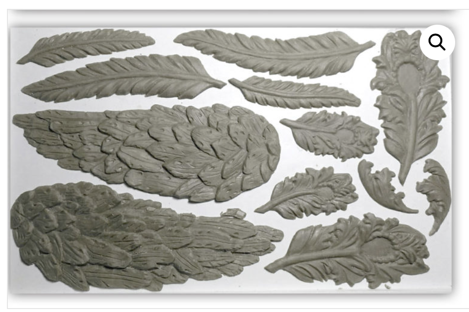 Wings and Feathers Mould Moulds - Iron Orchid Designs Moulds available at Lemon Tree Corners