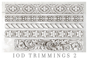 Trimmings 2 Mould Moulds - Iron Orchid Designs Moulds available at Lemon Tree Corners