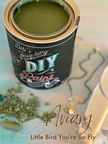 Aviary DIY Paint DIY PAINT - DIY Artisan Clay Paint and Chalk Finish Furniture Paint available at Lemon Tree Corners