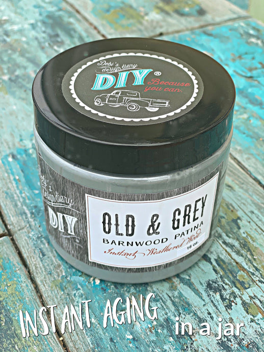 Old & Grey Liquid Patina DIY PAINT - DIY Artisan Clay Paint and Chalk Finish Furniture Paint available at Lemon Tree Corners