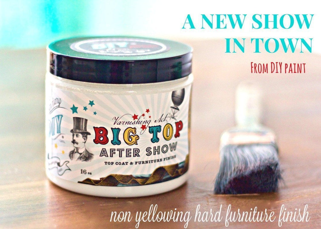 DIY BIG TOP - Top Coat DIY FINISHES DIY Paint Finish available at Lemon Tree Corners
