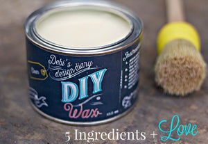 DIY Wax Clear DIY WAX - DIY Paint Wax Fast Drying Low VOC Furniture Paint Wax available at Lemon Tree Corners