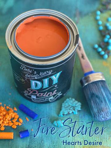 Fire Starter DIY Paint DIY PAINT - DIY Artisan Clay Paint and Chalk Finish Furniture Paint available at Lemon Tree Corners
