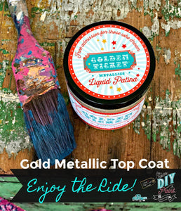 Gold Liquid Patina AKA Golden Ticket DIY FINISHES DIY Paint Finish available at Lemon Tree Corners