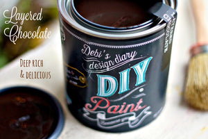 Layered Chocolate DIY Paint DIY PAINT - DIY Artisan Clay Paint and Chalk Finish Furniture Paint available at Lemon Tree Corners
