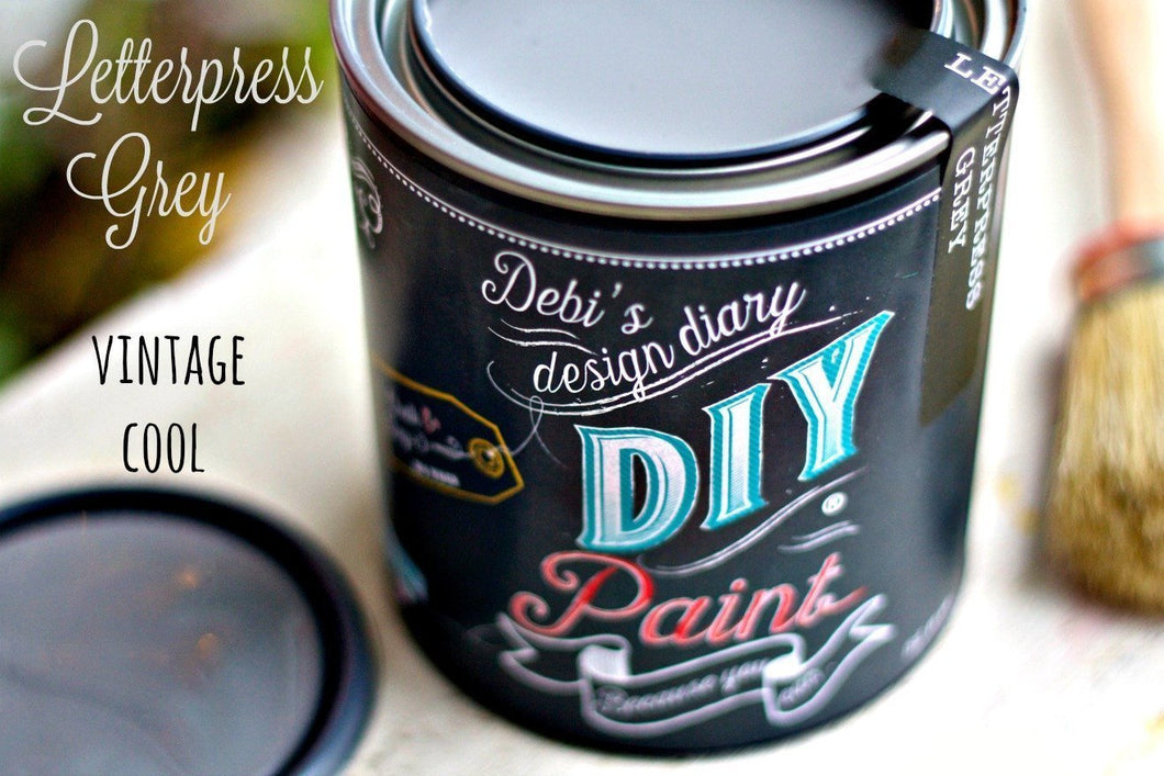 Letterpress Grey DIY Paint DIY PAINT - DIY Artisan Clay Paint and Chalk Finish Furniture Paint available at Lemon Tree Corners