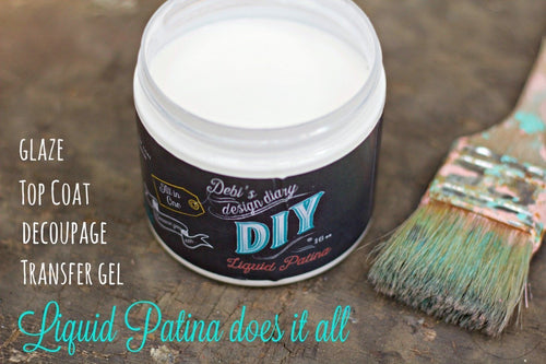 DIY Crystal Clear Chandelier Liquid Patina DIY FINISHES DIY Paint Finish available at Lemon Tree Corners