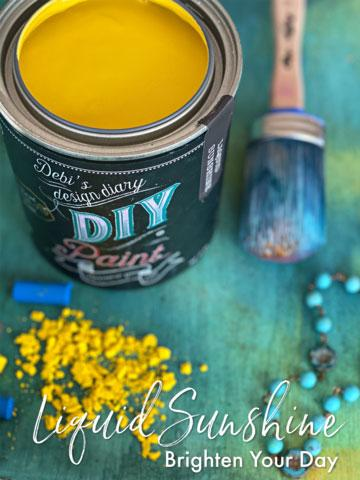 Liquid Sunshine DIY Paint DIY PAINT - DIY Artisan Clay Paint and Chalk Finish Furniture Paint available at Lemon Tree Corners