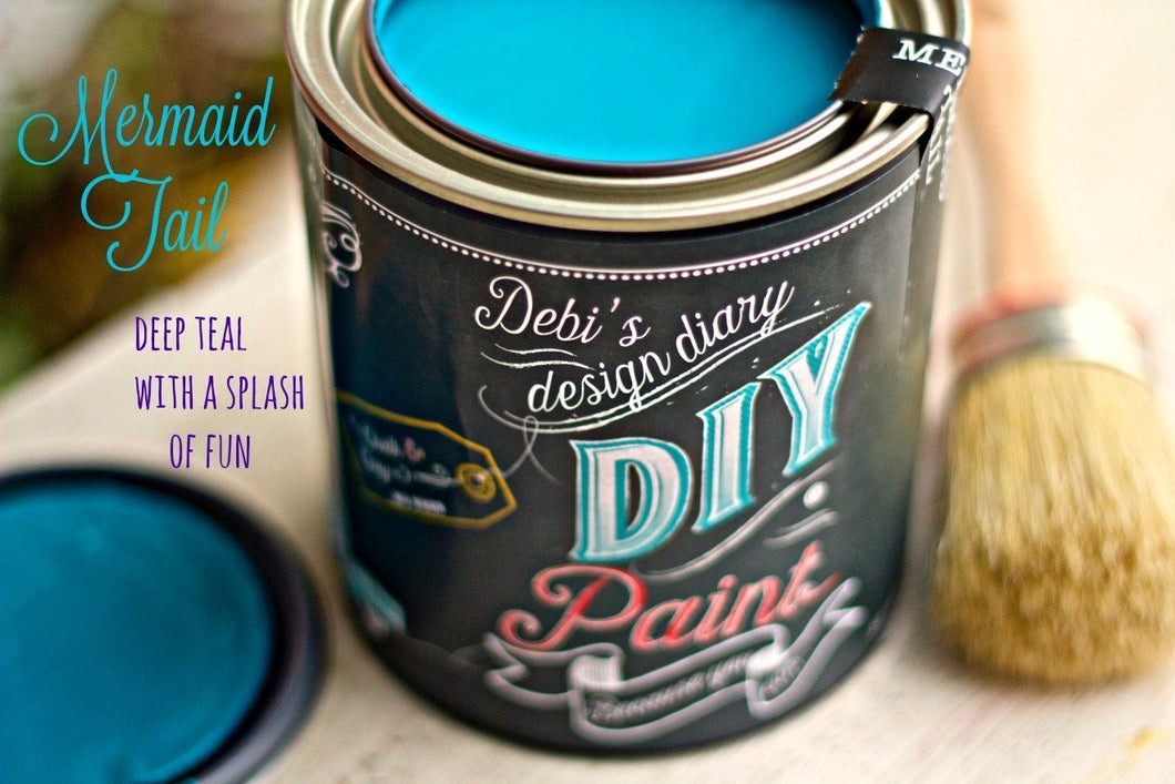 Mermaid Tail DIY Paint DIY PAINT - DIY Artisan Clay Paint and Chalk Finish Furniture Paint available at Lemon Tree Corners
