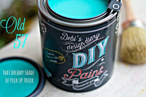 Old 57 DIY Paint DIY PAINT - DIY Artisan Clay Paint and Chalk Finish Furniture Paint available at Lemon Tree Corners