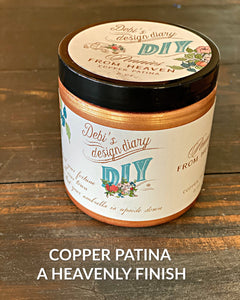 Copper Liquid Patina AKA Pennies From Heaven DIY FINISHES DIY Paint Finish available at Lemon Tree Corners