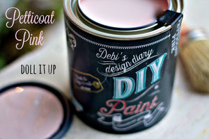 Petticoat Pink DIY Paint DIY PAINT - DIY Artisan Clay Paint and Chalk Finish Furniture Paint available at Lemon Tree Corners