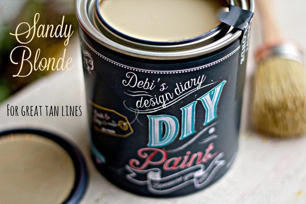 Sandy Blonde DIY Paint DIY PAINT - DIY Artisan Clay Paint and Chalk Finish Furniture Paint available at Lemon Tree Corners