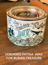 Load image into Gallery viewer, DIY Verdigris Patina Wax AKA Shipwrecked DIY WAX - DIY Paint Wax Fast Drying Low VOC Furniture Paint Wax available at Lemon Tree Corners