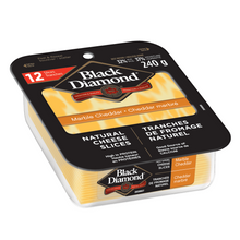 Load image into Gallery viewer, Black Diamond Sliced Marble Cheese (240g)