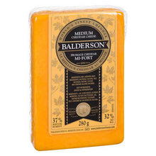 Load image into Gallery viewer, Balderson Yellow Medium Cheddar Cheese (280g)