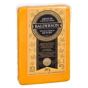 Balderson Yellow Medium Cheddar Cheese (280g)