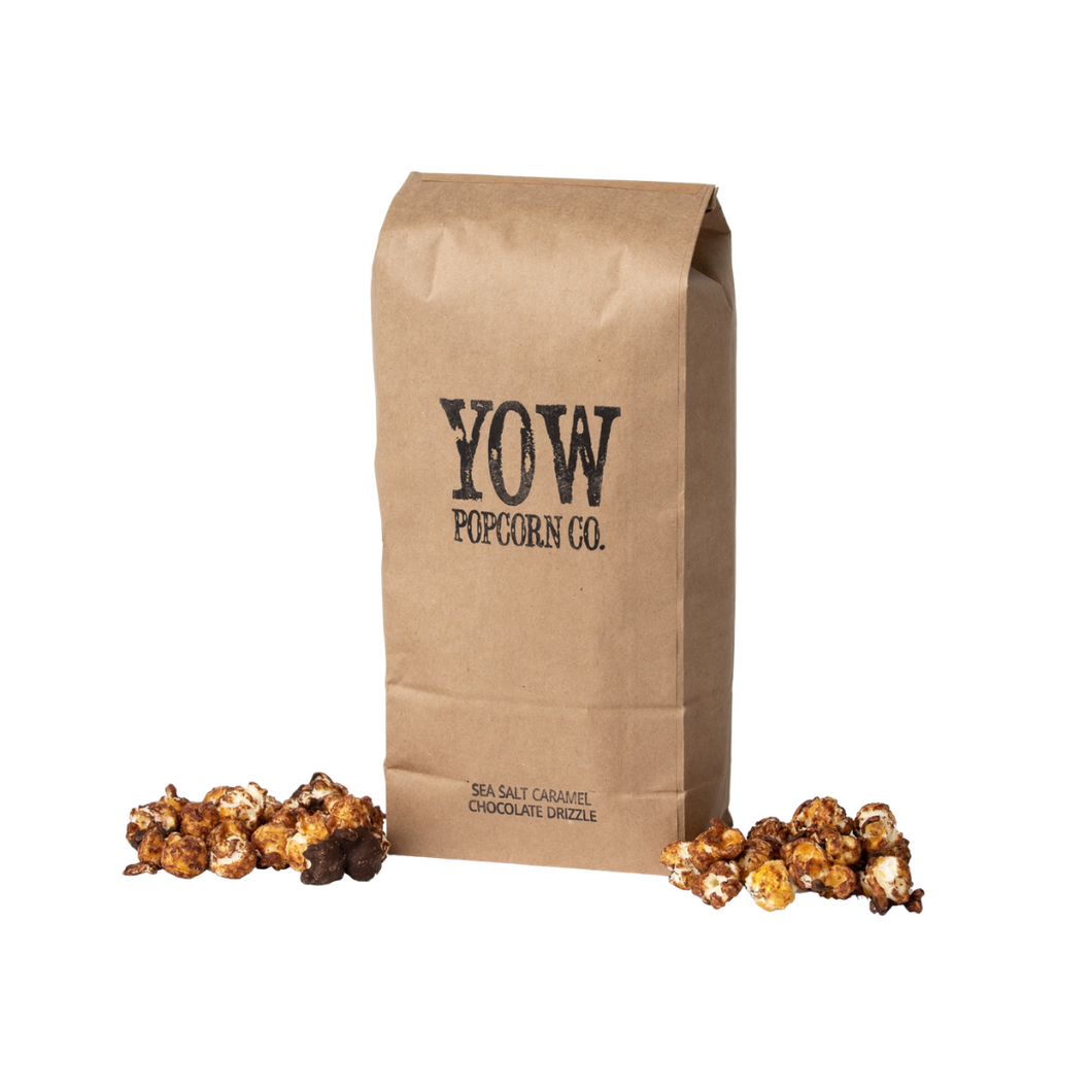 YOW Popcorn Co. Sea Salt Caramel Chocolate Drizzle