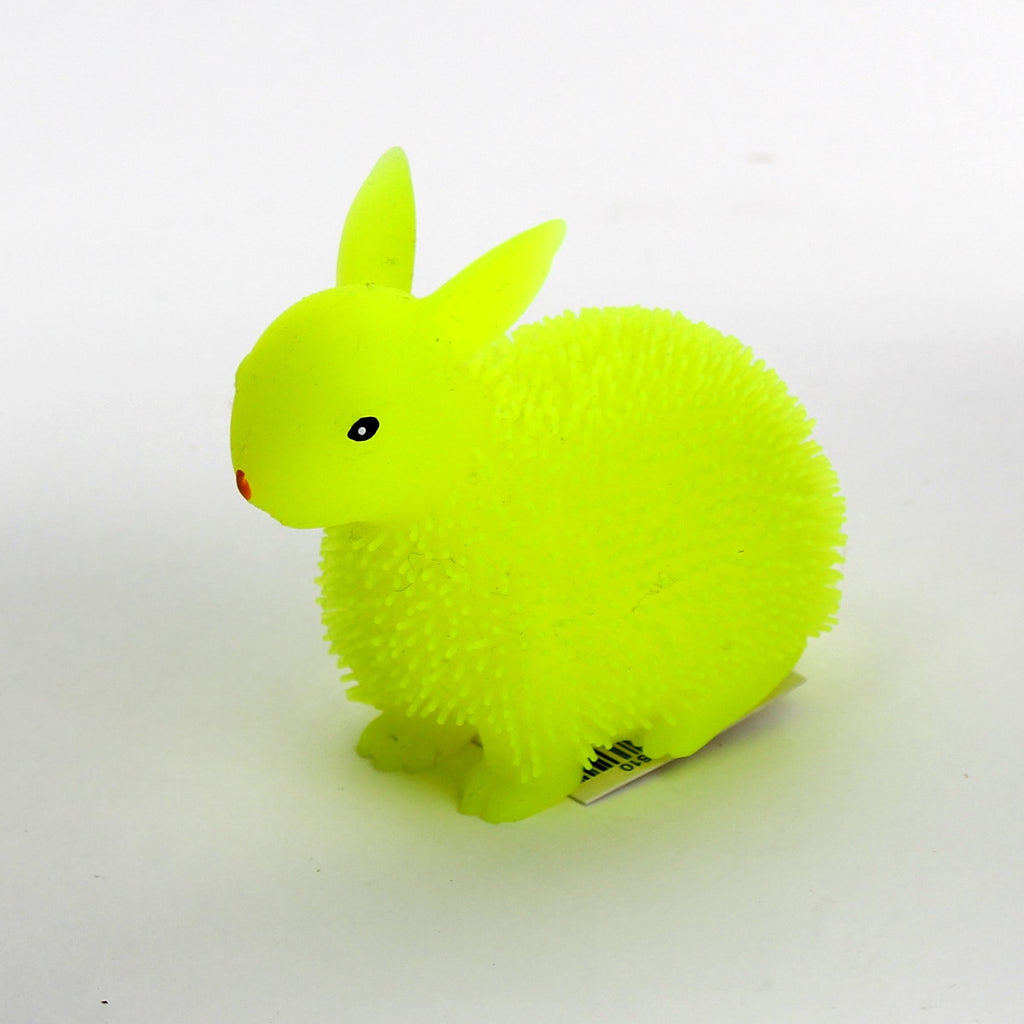 Easter 4in Puffer Bunny Rabbit 6asst Colours