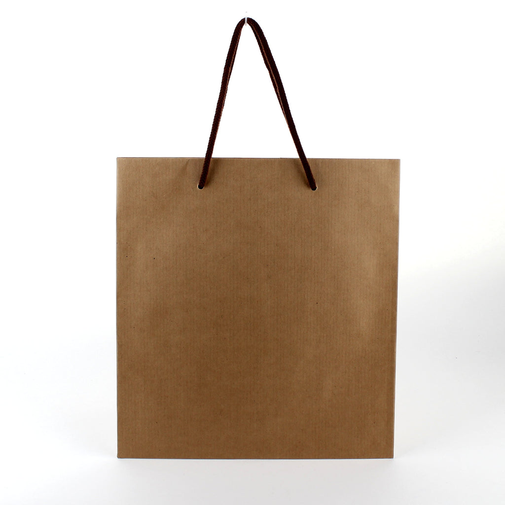 Cake Bag (Kraft Paper/Handle/For 18cm Cake/Embossed/24x28x30cm)
