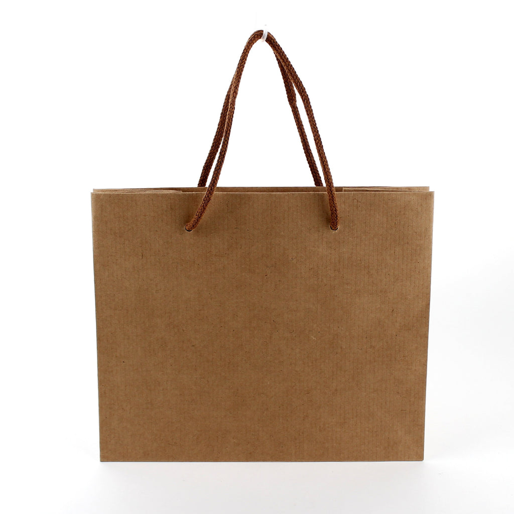 Cake Bag (Kraft Paper/Handle/Swiss Roll/Embossed/14x26x22cm)