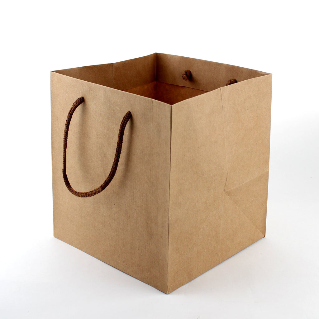 Oomomo Cake Bag (Kraft Paper/Handle/For 15cm Cake/Embossed/21x22x24cm)