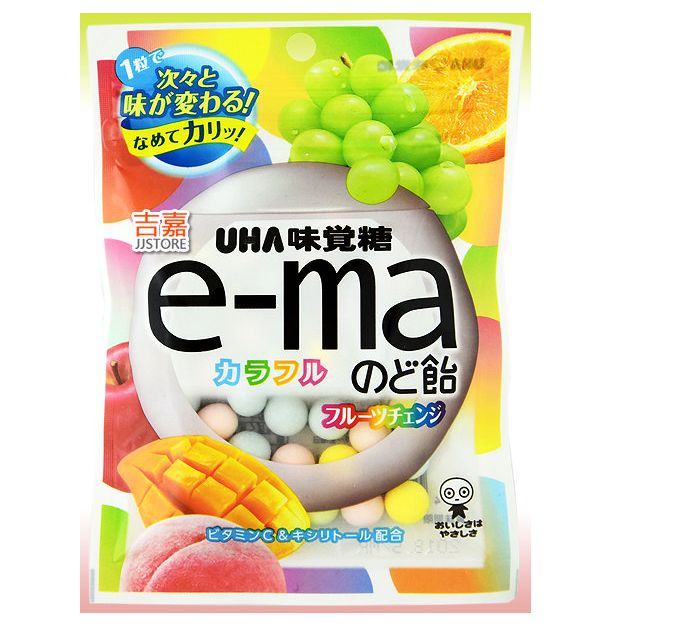 UHA E-ma Colorful Fruits Candy Bag (Flavour Changing/50g)