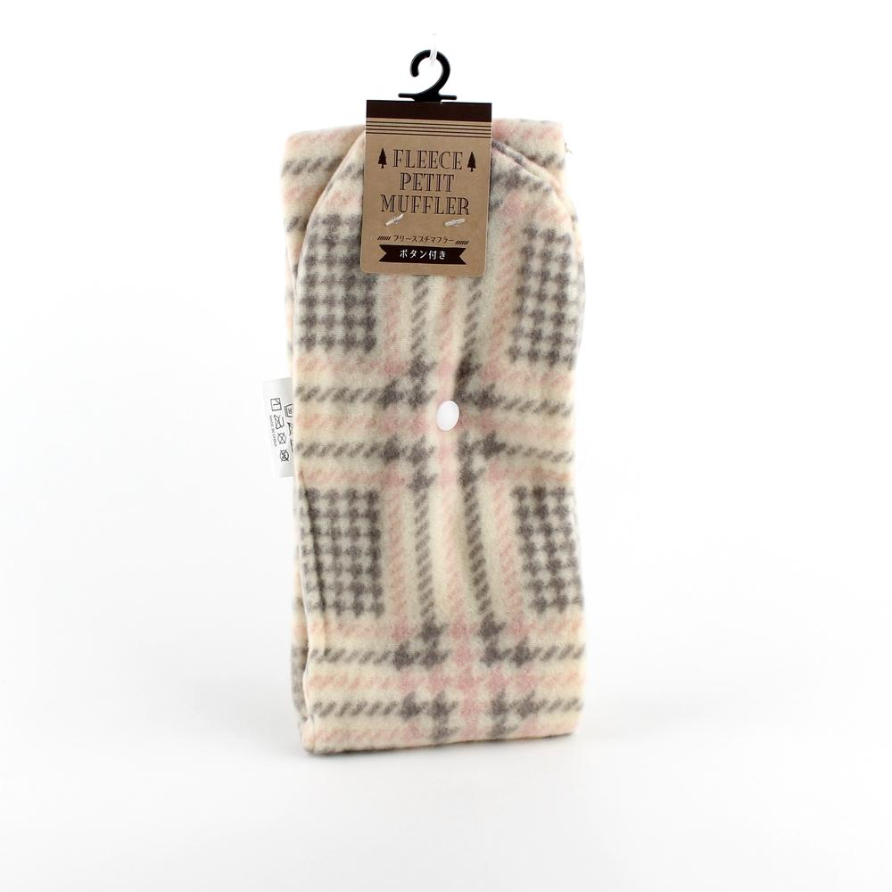 Scarf (Fleece/Petit/Button/Women/Glen Plaid/89x11cm)