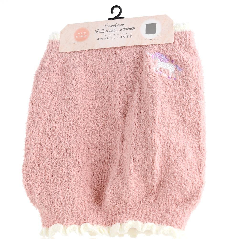 Belly Warmer (M-L/Knit/Fluffy/Women/One Size/Unicorn/Embroidered/27cm)