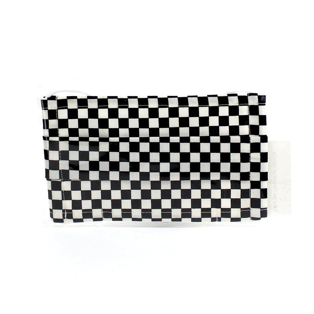 Mask (With Filter Pocket/Pleated/Checkered/L/Namioto/17x10cm)