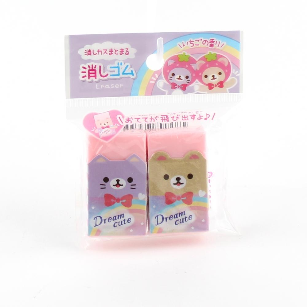 Eraser (PVC/Strawberry Fragrance/1.4x4.5x2.5cm (2pcs))