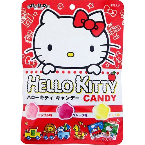 Senjaku Hello Kitty Candy Assorted Flavour (Apple/Grape/Lemon) 65g