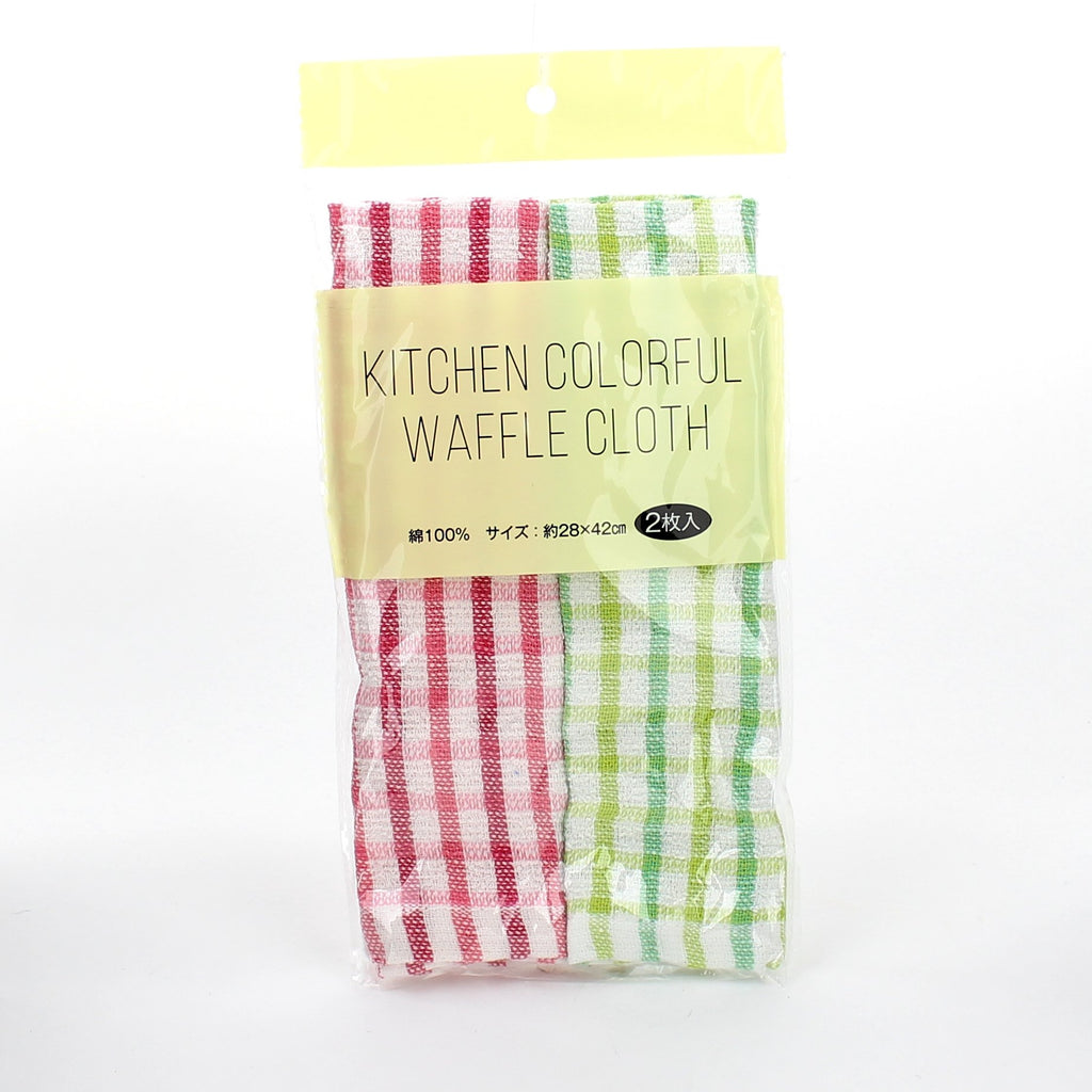 Cleaning Cloth (f/Kitchen/Check/YK/BL*PK/GN/28x42cm (2pcs))