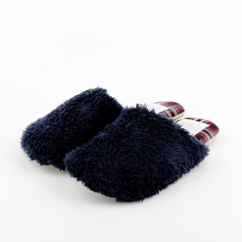 Slippers (Corduroy/Check/NV/RD/26cm)