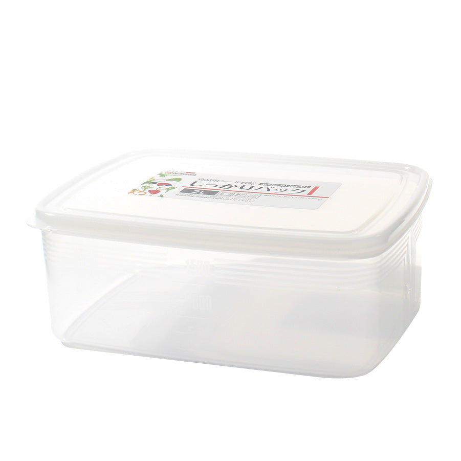 Plastic Food Container (Microwavable/Rect/CL/20.5x15x7.9cm / 2L)