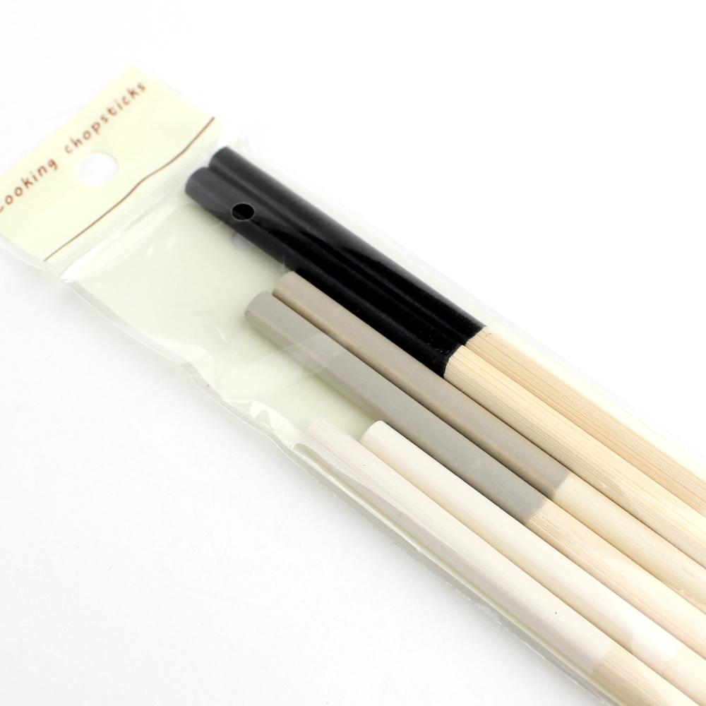 Japanese Cooking Chopsticks (Bamboo/Not Microwave&Dishwasher Safe/Monotone/White: 27cm / Gray: 30cm / Black: 33cm (3 Pairs))
