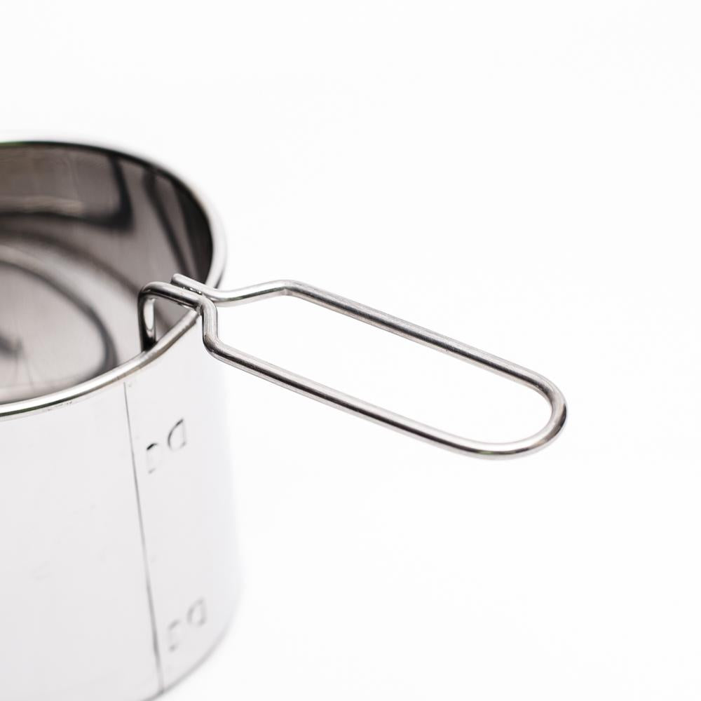 Stainless Steel Flour Sifter with Handle (Silver/16.9xDiameter 9x8.5cm)