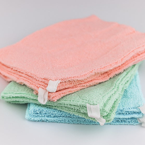 Cleaning Cloth ( w / String / PK*GN*BL / 30x20cm (2pcs) )