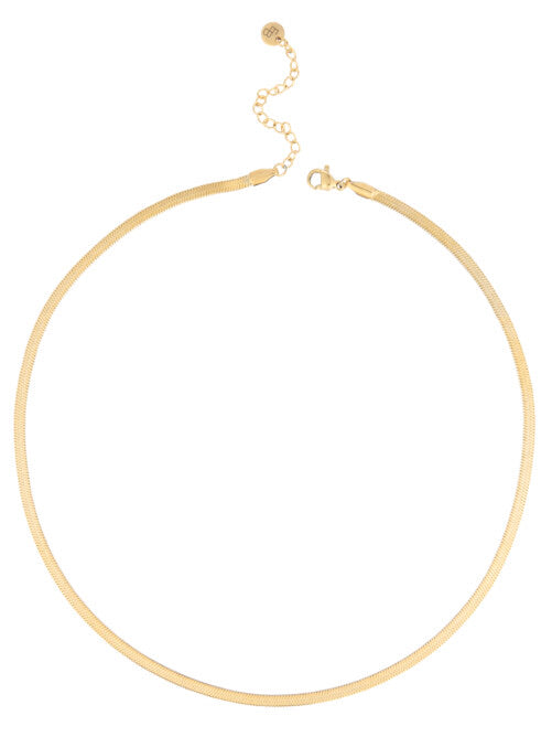 SNAKE KETTING - GOLDPLATED