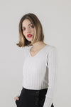 Sweater ajustado Fefi crudo