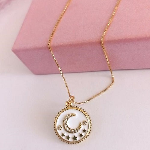 Collar Gold Medalla Luna